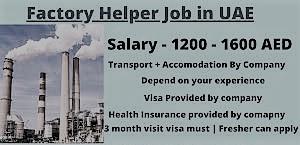 General Helper and Factory Helper Job in Dubai