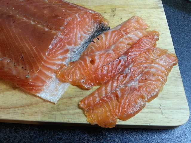 Salmone marinato al miele e all'arancia - Honey-orange marinated salmon