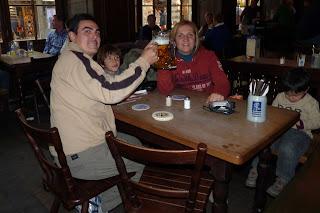 Cerveza en el centro de Múnich.