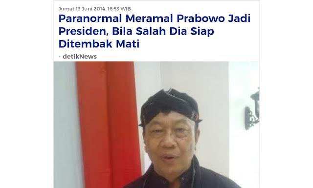 Viral Ki Sabdo Amankan Pelantikan Jokowi, Dulu Siap Ditembak Mati Jika Prabowo Tak Jadi Presiden