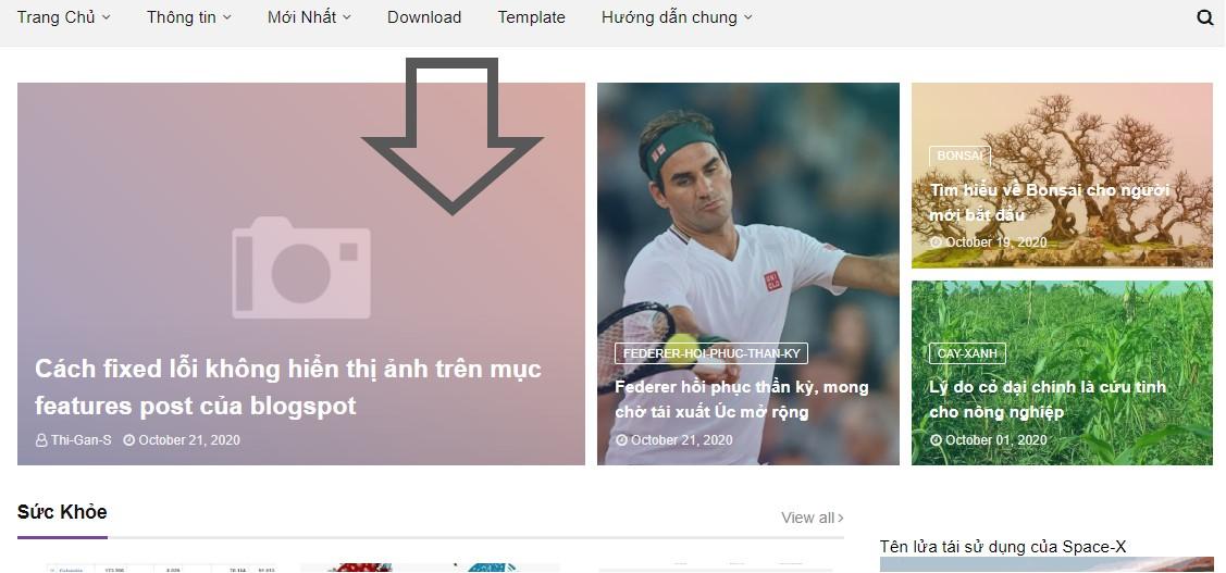 Lỗi  ảnh không hiển thị ảnh trên mục features post của blogspot