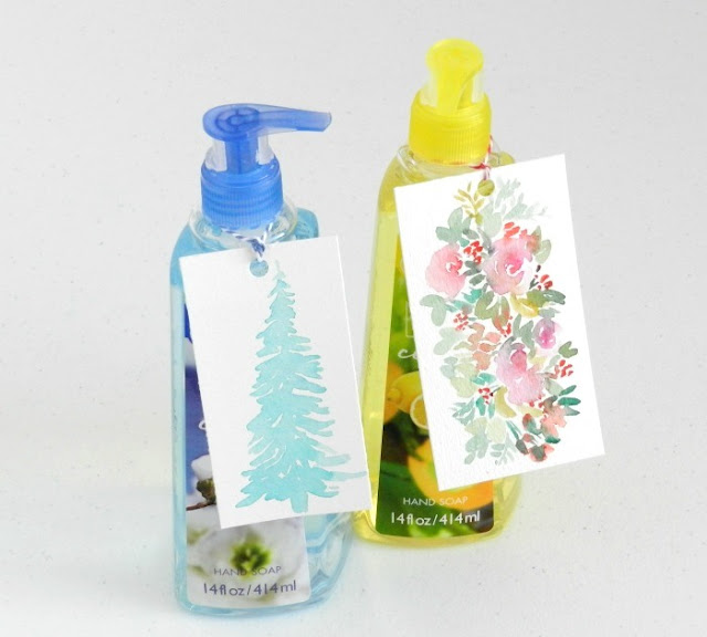 Easy Neighbor Christmas Gift- Soap with Pretty Tags:  Grow Creative Blog