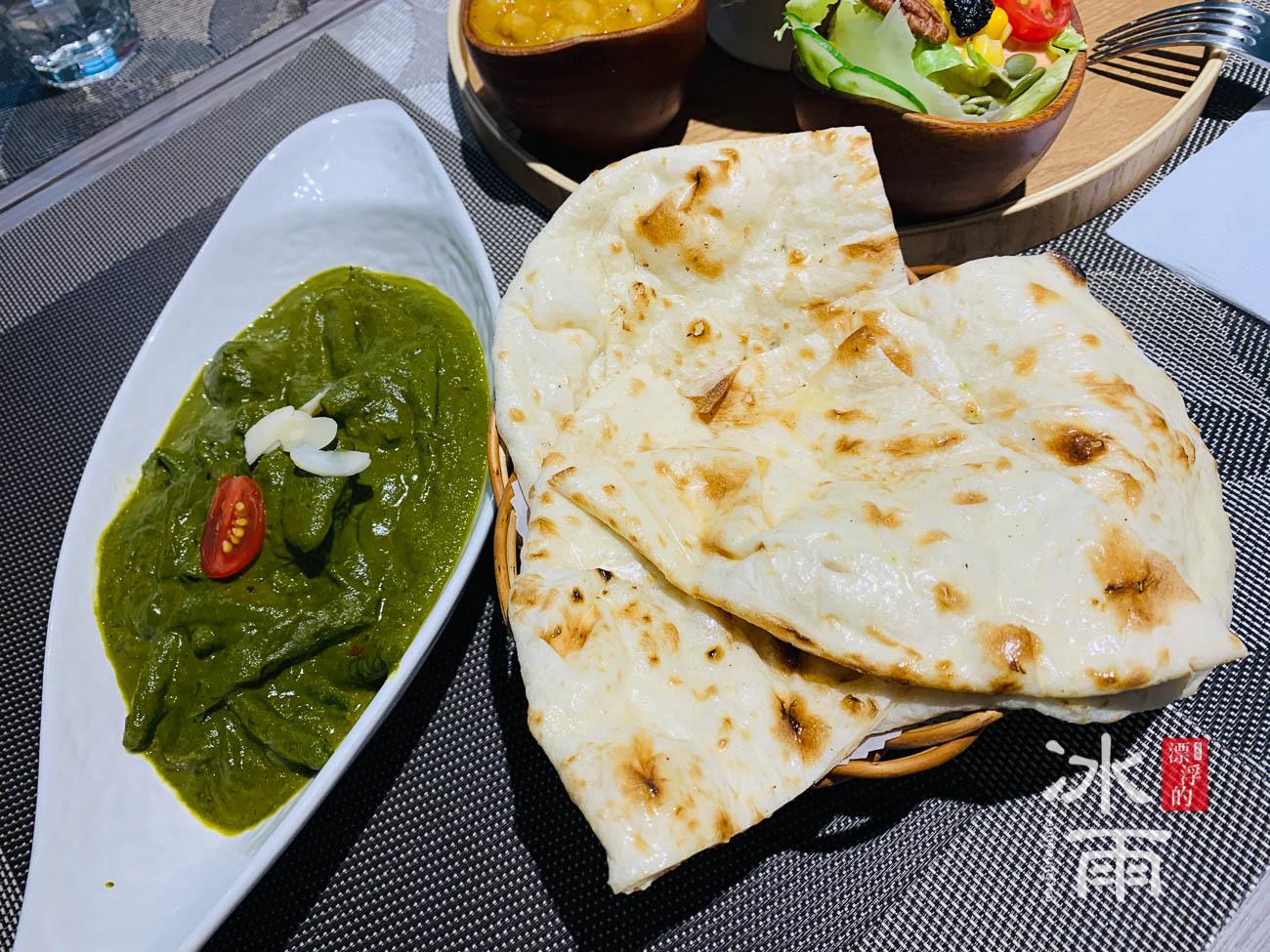 印度咖哩吧|素食菠菜咖哩+印度烤餅