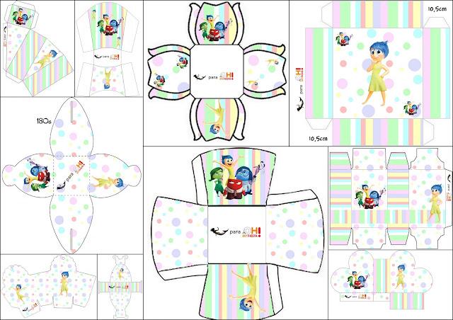 Del Revés, Intensamente o Inside Out: Cajas para Imprimir Gratis ...