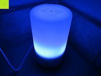 Licht blau: Aiho 50ml USB Auto Aroma Diffuser Mini AD-P3 Aromatherapie Ätherische Öl Ultraschall Luftbefeuchter Humidifier