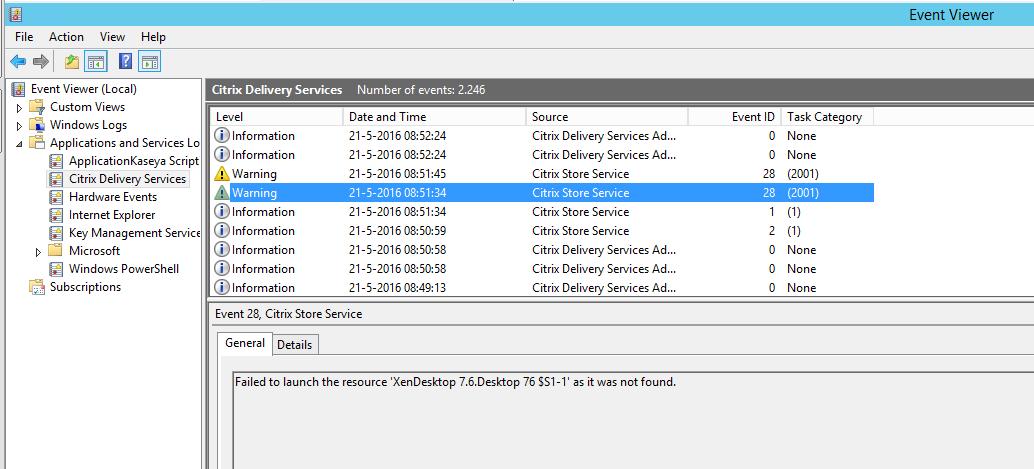 Citrix Windows Services