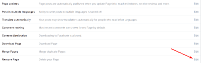 remove page