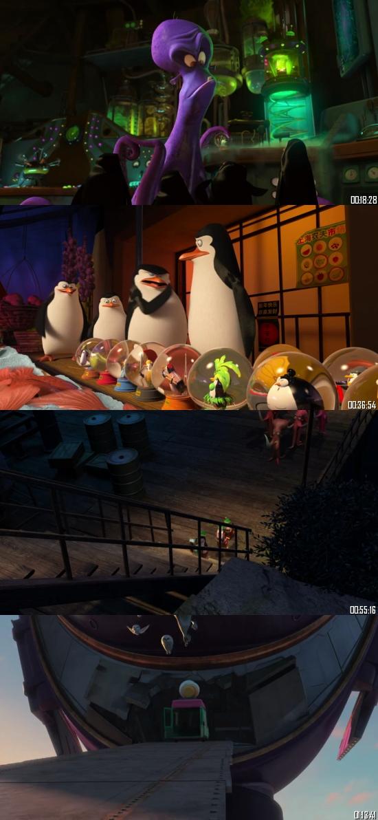 Penguins Of Madagascar 2014 BRRip 720p 480p Dual Audio Hindi English Full Movie Download