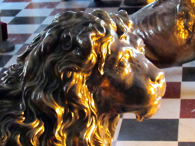 Lion in The Great Hall, Rosenborg Slot, Copenhagen