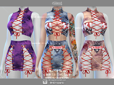Lace Up Set Dye Version for The Sims 4
