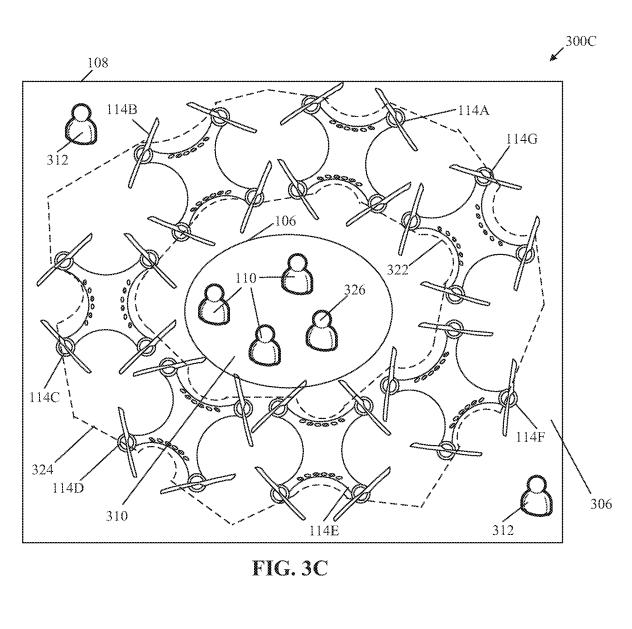 Схема системы шумоподавления для дронов из патента Sony