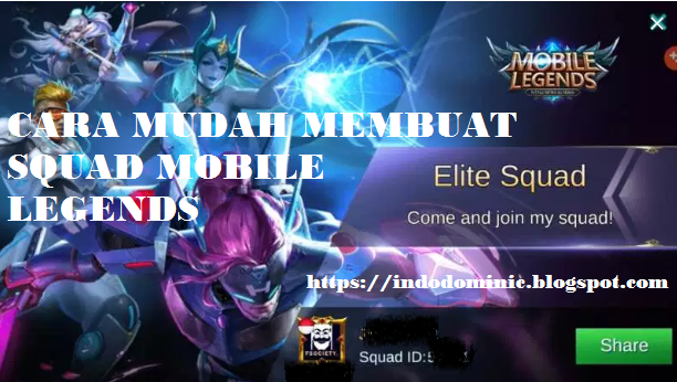 How to create a squad in Mobile Legends