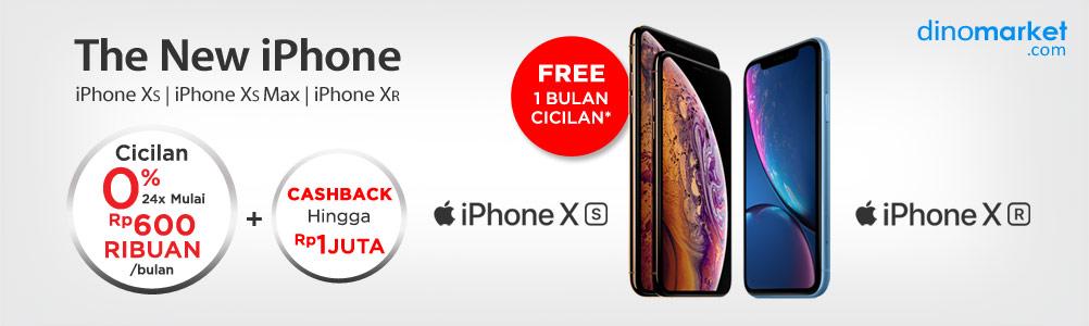 #Dinomarket - Promo New  iPhone X Series + Cashback + Free Cicilan (s.d 31 Des 2018)