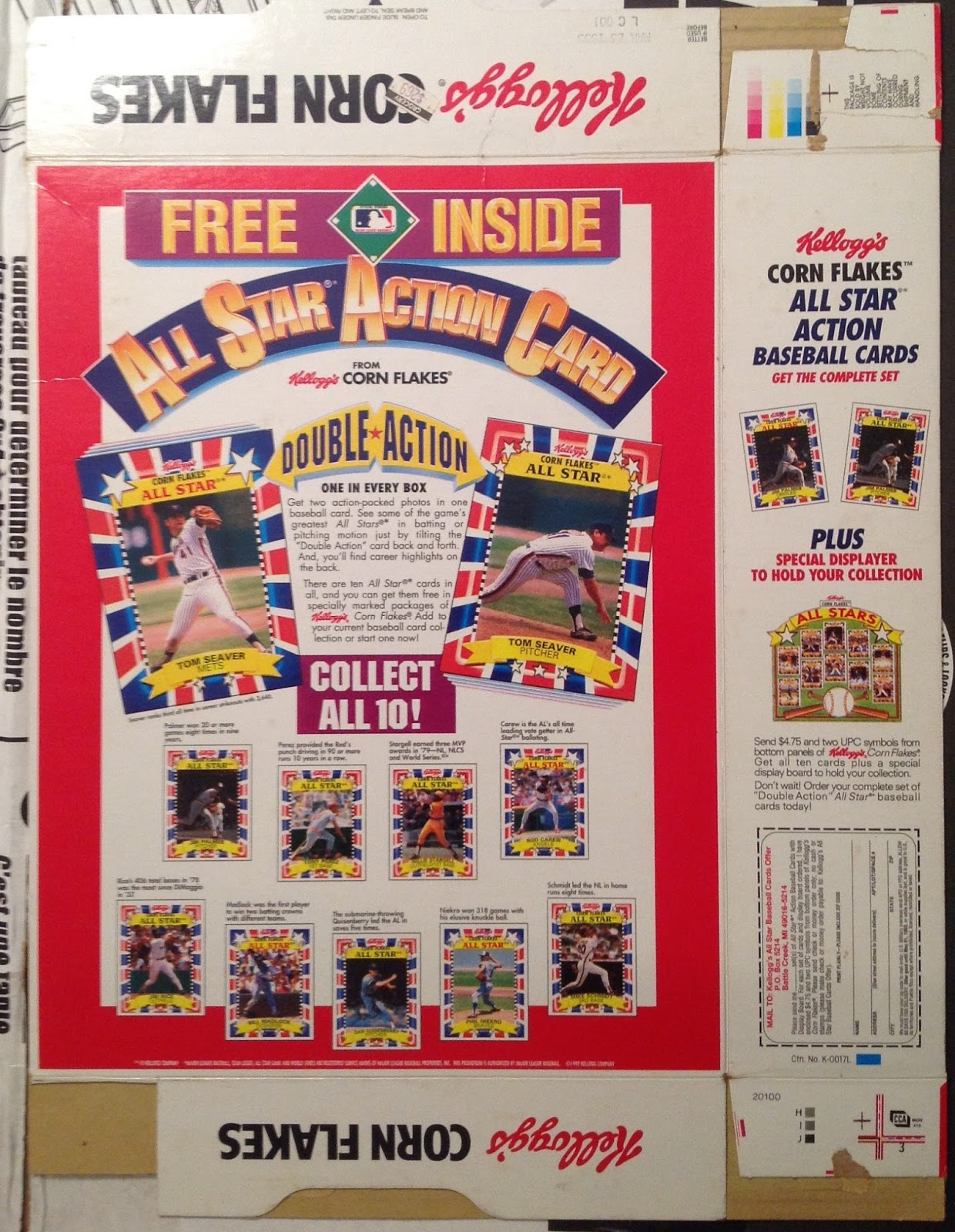 Run Fore Kelloggs Baseball Cards How I Spent My Allowance