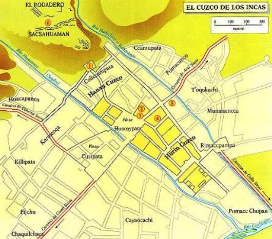 TAWANTINSUYO: Así fue el Cusco prehispánico Mapa-de-cusco-precolombino