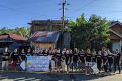 Tim Kerja Paskah Pemuda KGPM Imanuel Wuwuk Lakukan Penyemprotan Disenfektan