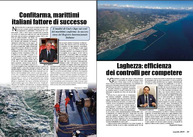 AGOSTO 2019 PAG. 28 - Confitarma, marittimi italiani fattore di successo