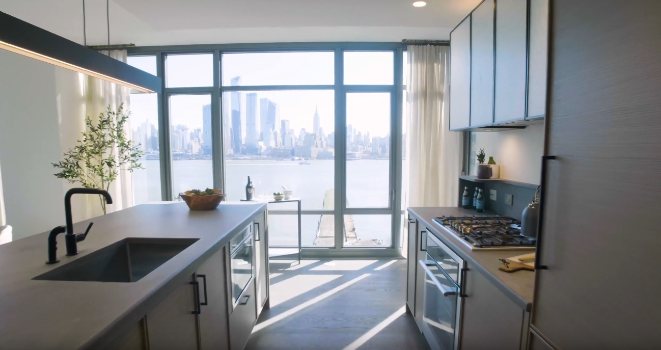 Tour 1425 Hudson Street Hoboken, NJ Condo vs. 8 Interior Design Photos