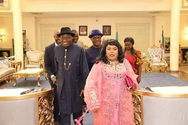 Gov. Wike Receives Goodluck Jonathan And Mama Peace In Rivers