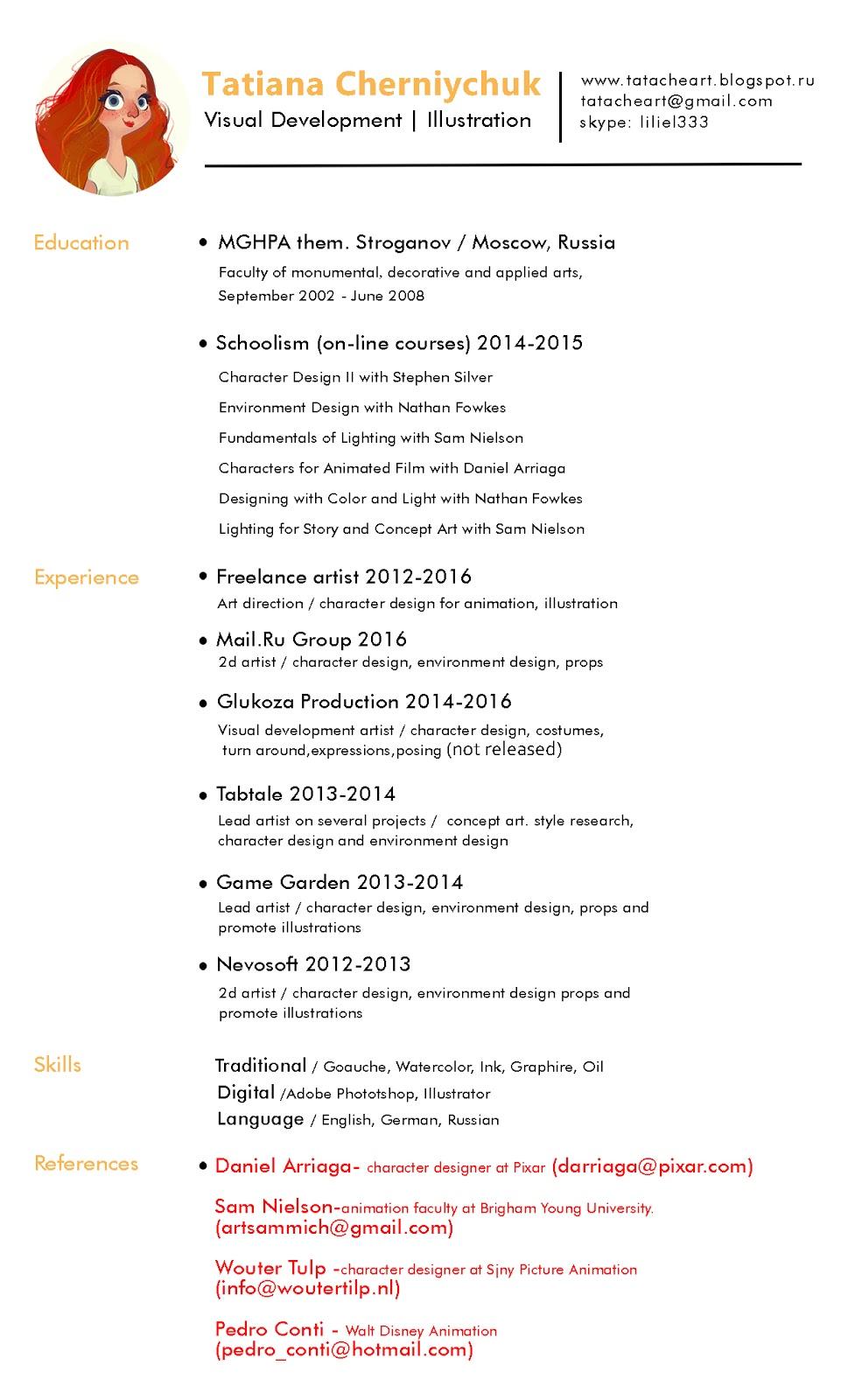 Tata Che Portfolio Resume 2016