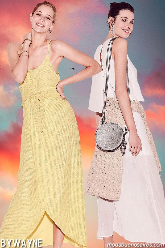 Moda primavera verano 2020 vestidos largos, faldas y blusas 2020.
