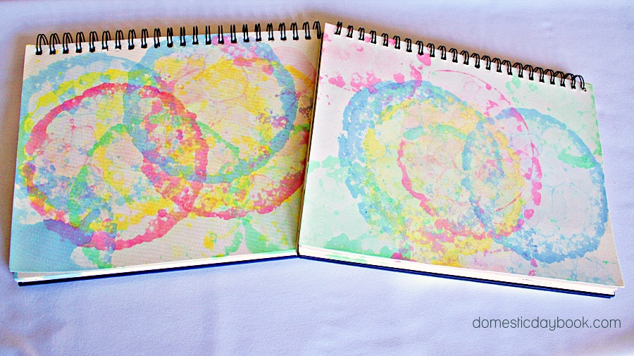 Easy art project for kids bubble art