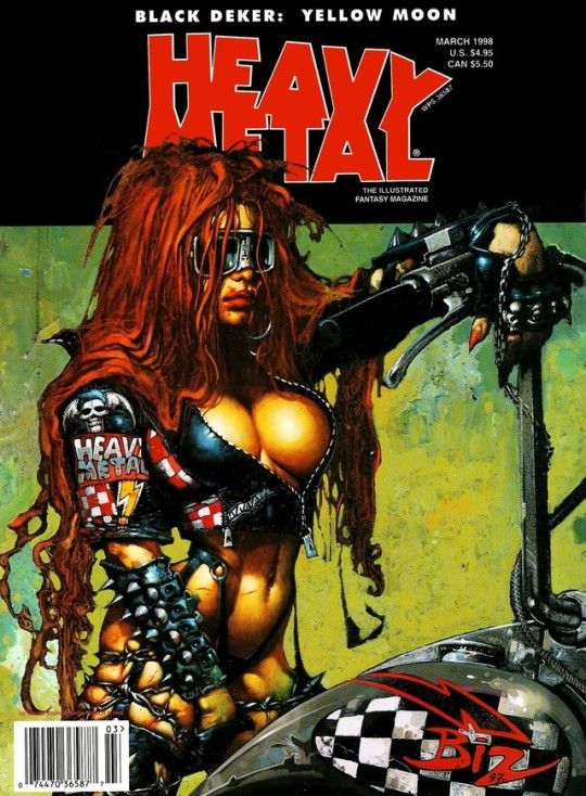 Simon 'Biz' Bisley - Heavy Metal Cover, 1998