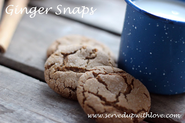 Ginger Snaps recipe from Served Up With Love