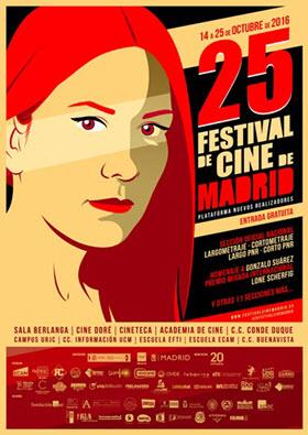 Festival de cine de Madrid, con 10 sedes. Del 14 al 25 de octubre de 2016