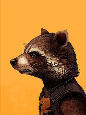 Guardians of the Galaxy Rocket Raccoon Marvel Portrait Print by Mike Mitchell x Mondo