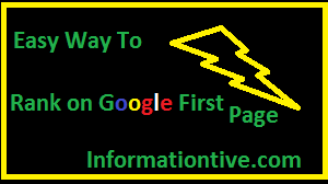 Rank on google first page, website ranking