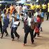 Ugandan Police men walk in heels to end Violence Against Women