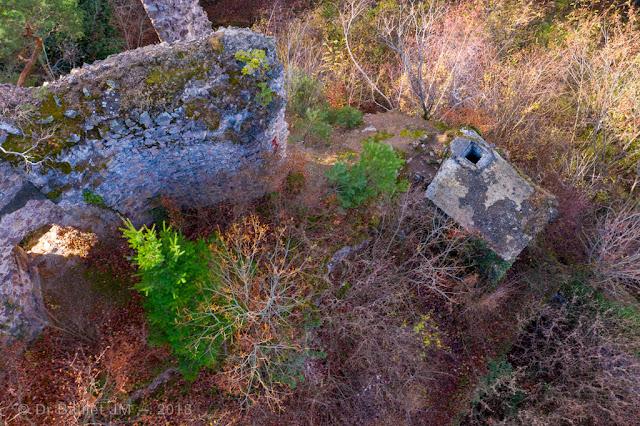 La « tour » servant d'observatoire d'artillerie