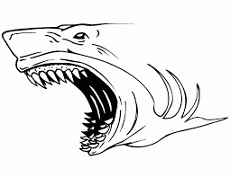 Megalodon Sharks Coloring Pages