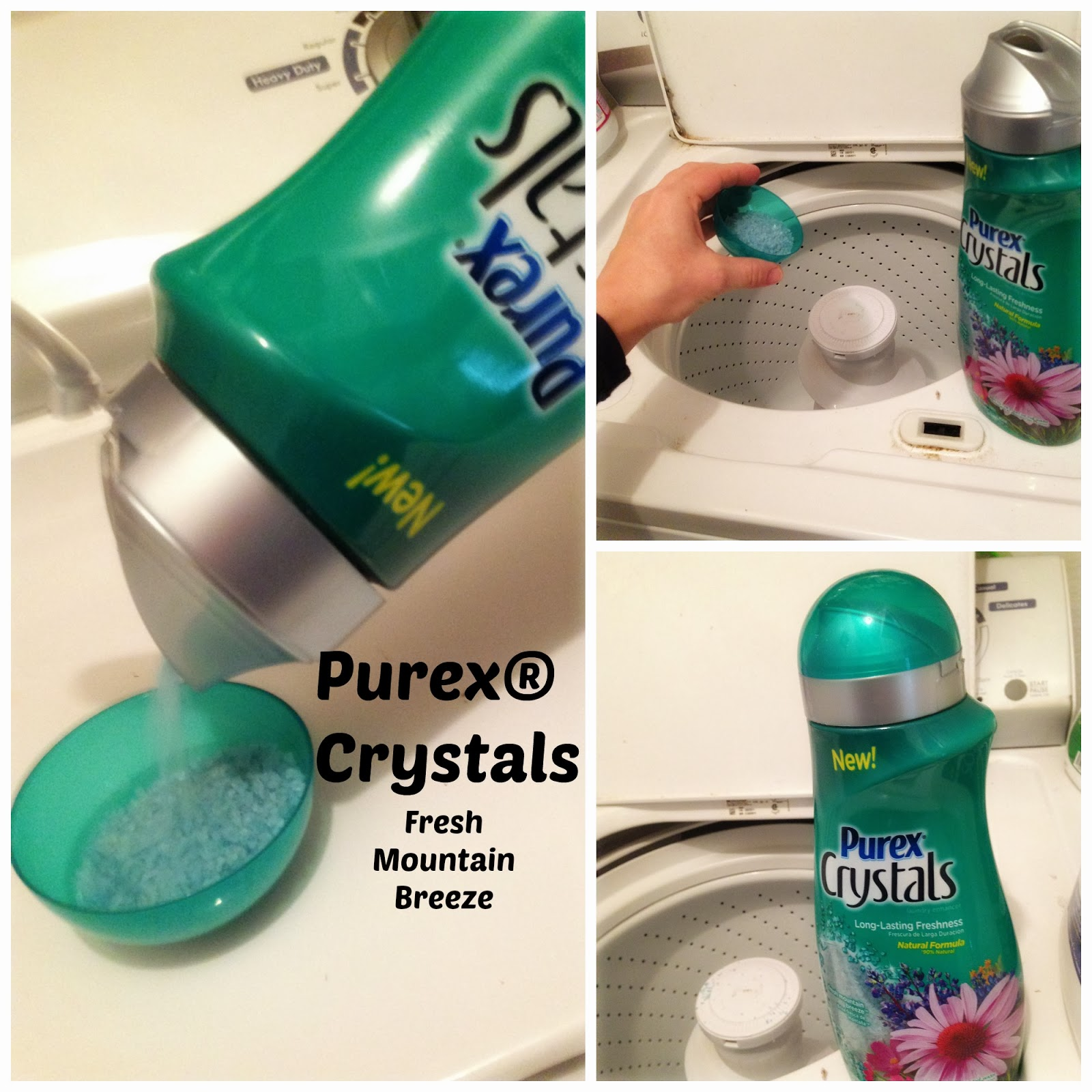 Pouring laundry detergent purex softener
