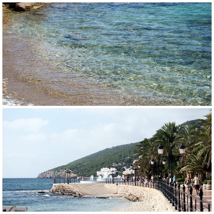 Blog + Fotografie by it's me! - Reisen - La Isla Blanca Ibiza, Santa Eurlaria - Kiesstrand und Strandpromenade