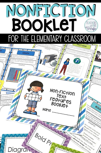 Fabulous resources and ideas to get you started back to school! This blog post will give you details about a nonfiction booklet kit! #teachersareterrific