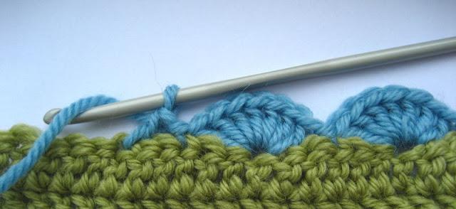 bordure au crochet sur tricot
