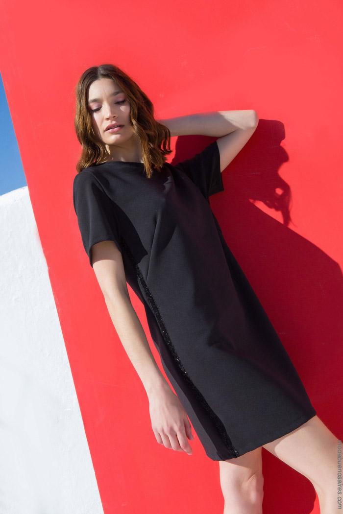 vestidos cortos de moda primavera verano 2020 negros