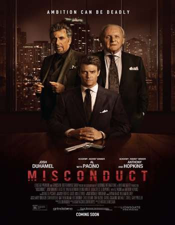Poster Of Misconduct In Dual Audio Hindi English 300MB Compressed Small Size Pc Movie Free Download Only At worldfree4u.com