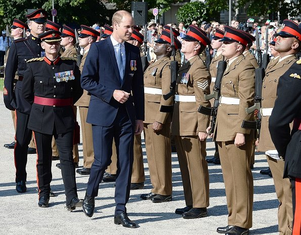 Prince William, German Chancellor Angela Merkel attend the celebrations of the 70th anniversary of North Rhine-Westphalia