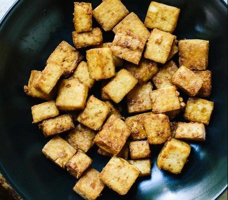 How to Make Crispy Baked Tofu #vegetarian #veggies