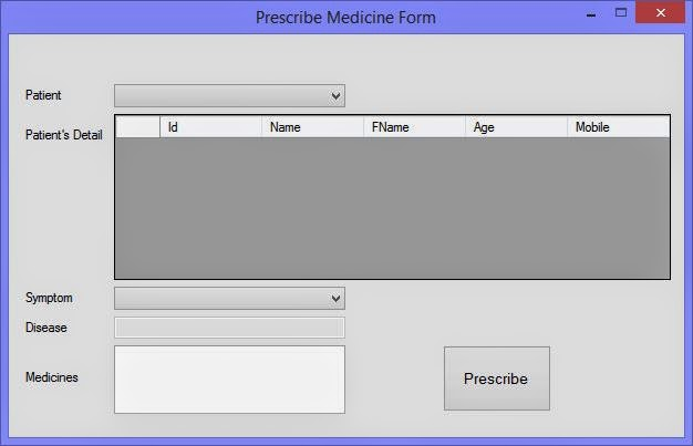 3. prescribe form doctor medicine project