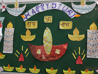 Beautiful Diwali  bulletin board Decorations for Home, school, and Office