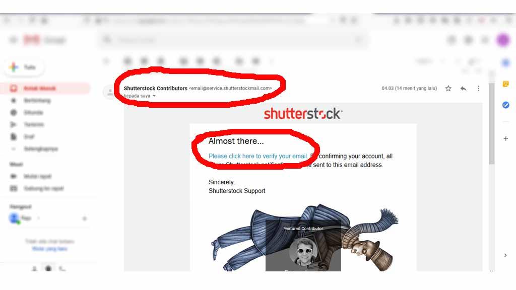 fajriology.com - permintaan konfirmasi akun kontributor shutterstock