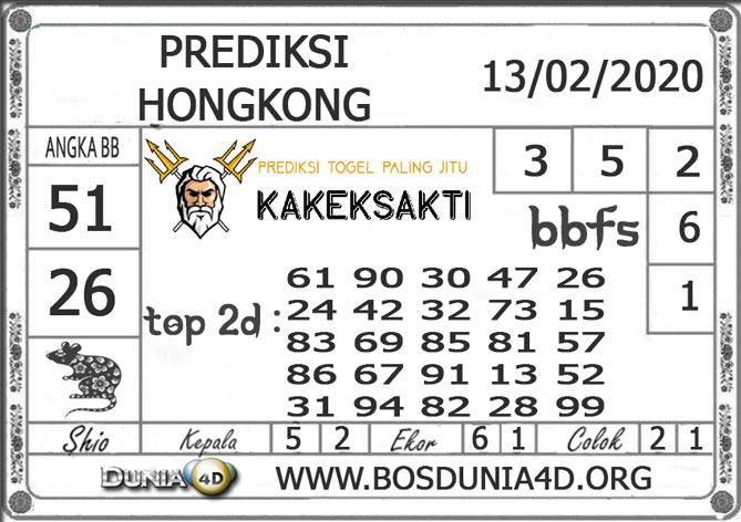 Prediksi Togel HONGKONG DUNIA4D 13 FEBRUARI 2020