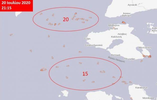 Xίος και Λέσβος είναι «περικυκλωμένες» από στόλο τουρκικών αλιευτικών: Καμία αντίδραση από την Αθήνα