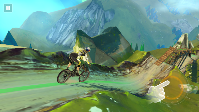 This is probably the best mountain biking for mobile devices featuring 3D riding and smooth graphics.  The game offers 60 beautiful tracks & 3 amazing real world locations to explore. The game also offers story mode, quick play and exciting offers that you can enjoy with. Can you ride through the epic trails fearlessly?