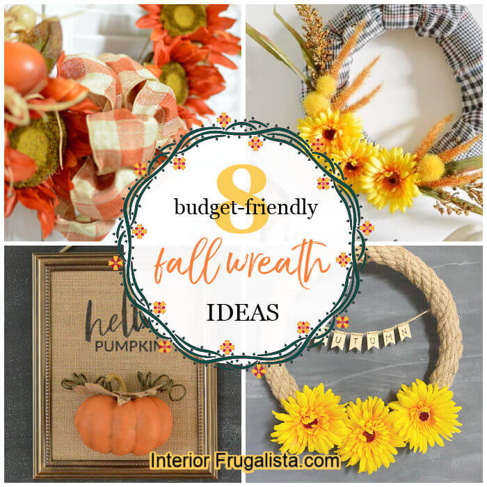 These eight budget-friendly ideas for a handmade wreath for Fall are made with either recycled materials, thrift store scores, or dollar store finds.