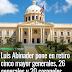 Abinader pone en retiro 61 oficiales del Ejército, Armada y la Fuerza Área; incluyendo varios generales
